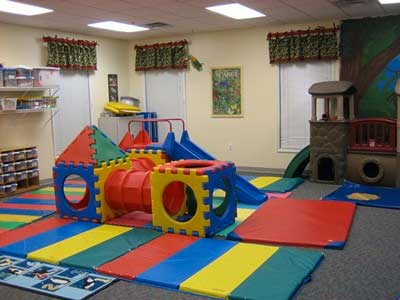 A child care classroom with a mini gym in Columbus Ohio