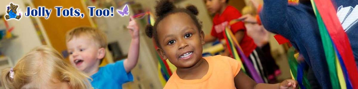 children at Jolly Tots Too, a Gahanna ohio preschool